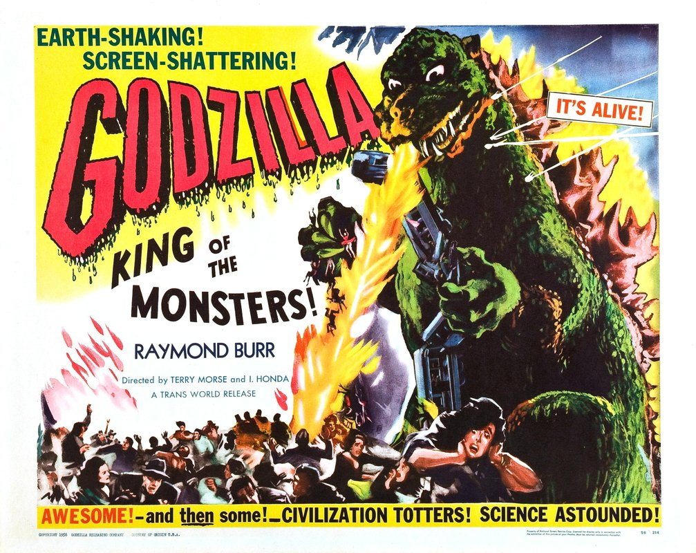 Godzilla King Of The Monsters Poster In 1954  the Japanese released