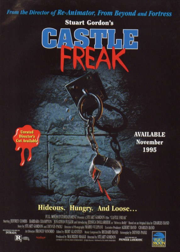 castle freak vhs ad