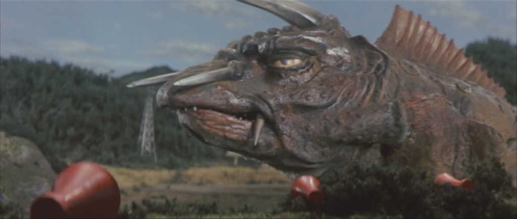gamera_-_5_-_vs_jiger_-_40_-_jiger_wakes_up_because_of_low_frequency_sounds